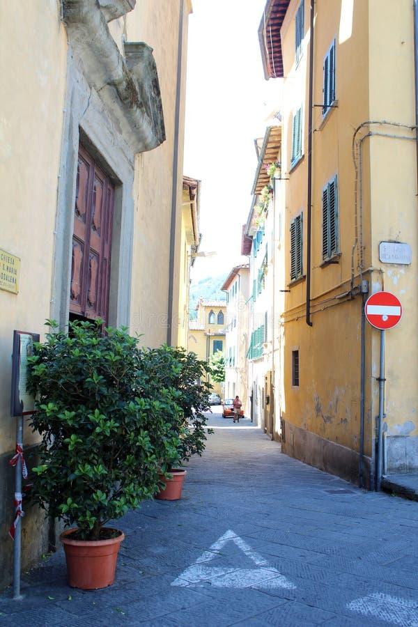 Miasto widok Pescia, Włochy fotografia royalty free