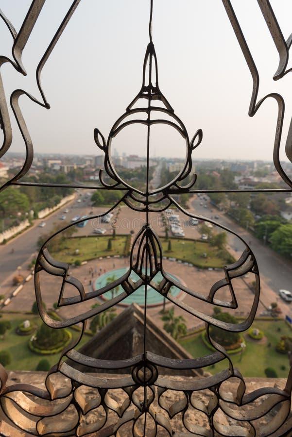 Miasto widok Vientiane Laos obrazy stock