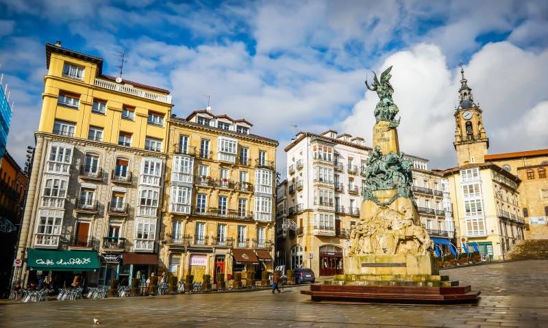 Miasto widok Vitoria-Gasteiz, Hiszpania fotografia royalty free