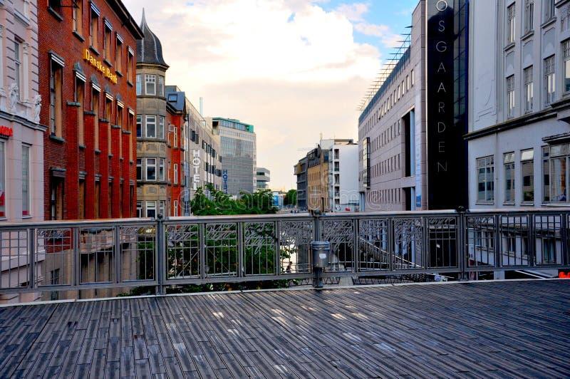 Miasto widok w Aarhus od mosta fotografia royalty free