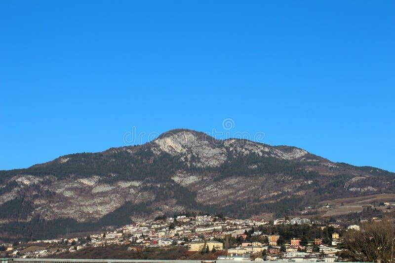 Miasto widok w Trento, Włochy obrazy royalty free