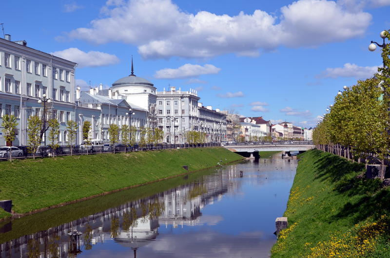 Miasto widoki Kazan zdjęcia royalty free
