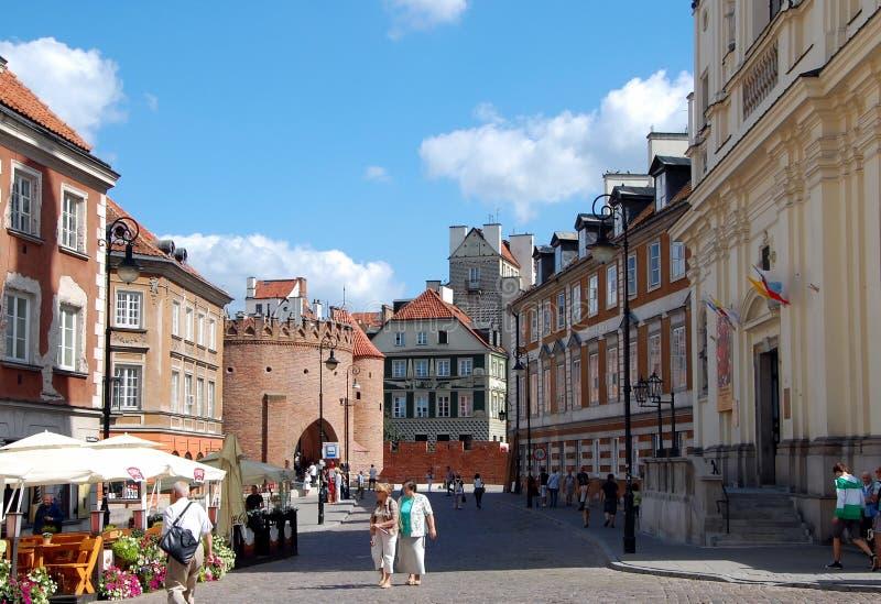 Miasto widoki Warszawa fotografia royalty free