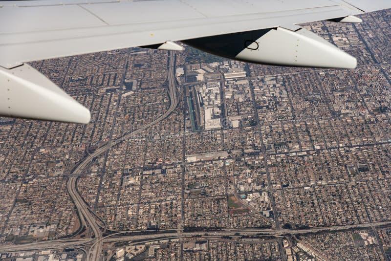 Miasto widzieć od samolotu obrazy royalty free
