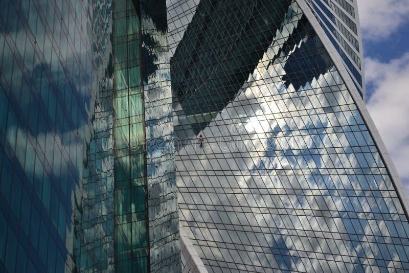 Miasto, wierza, drapacz chmur, szkło, architektura zdjęcia stock