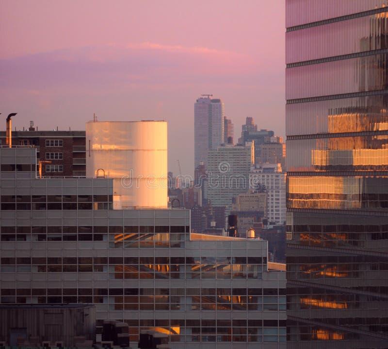 miasto wschód słońca w centrum nowy York zdjęcie stock