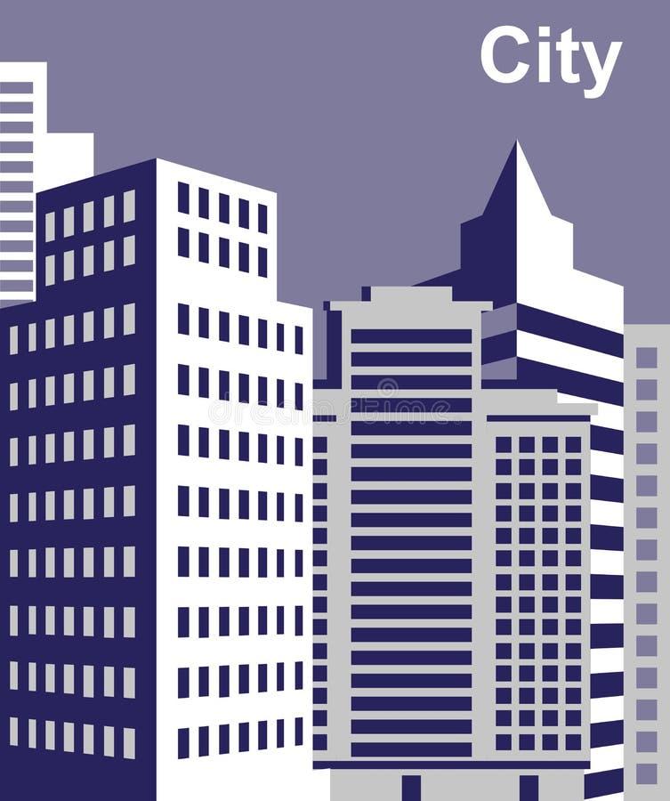 Miasto wysocy budynki ilustracja wektor