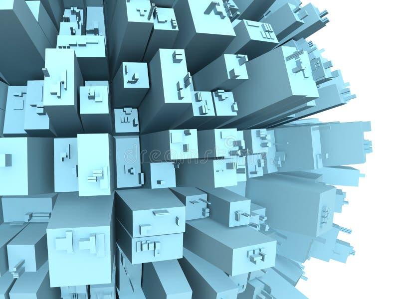 miasto wysokiego budynku abstrakcyjne ilustracja wektor