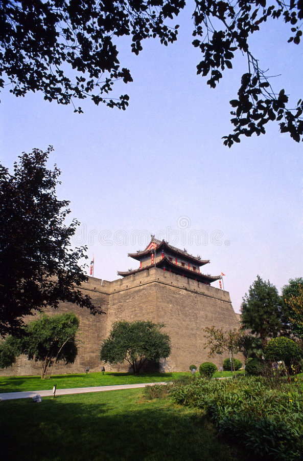 miasto Xian ścianę fotografia royalty free