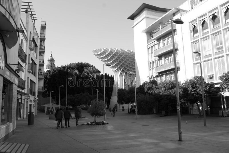 Miasto z flamenco obrazy royalty free