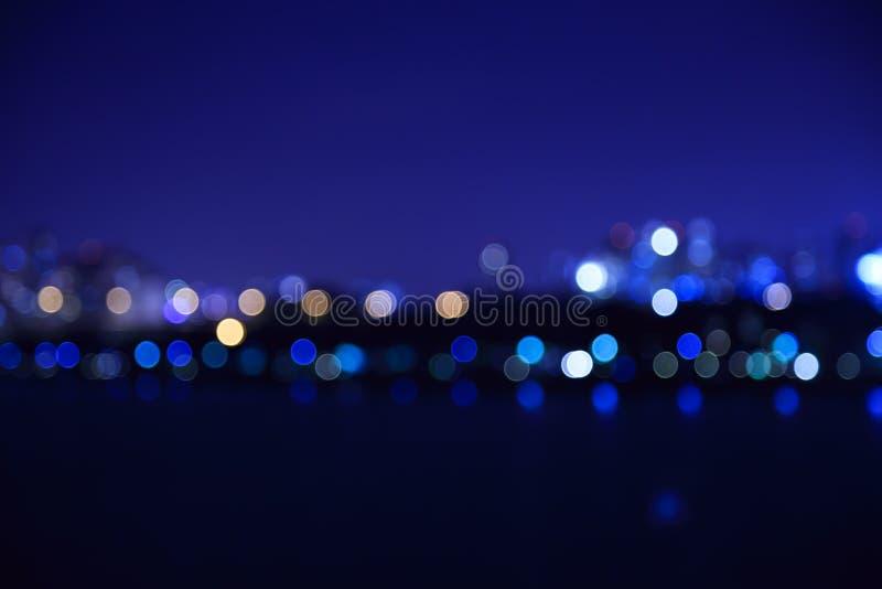 Miasto zaświeca bokeh zamazującego tło zdjęcie stock