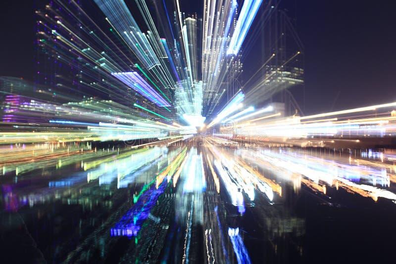 Miasto zaświeca noc zdjęcie stock