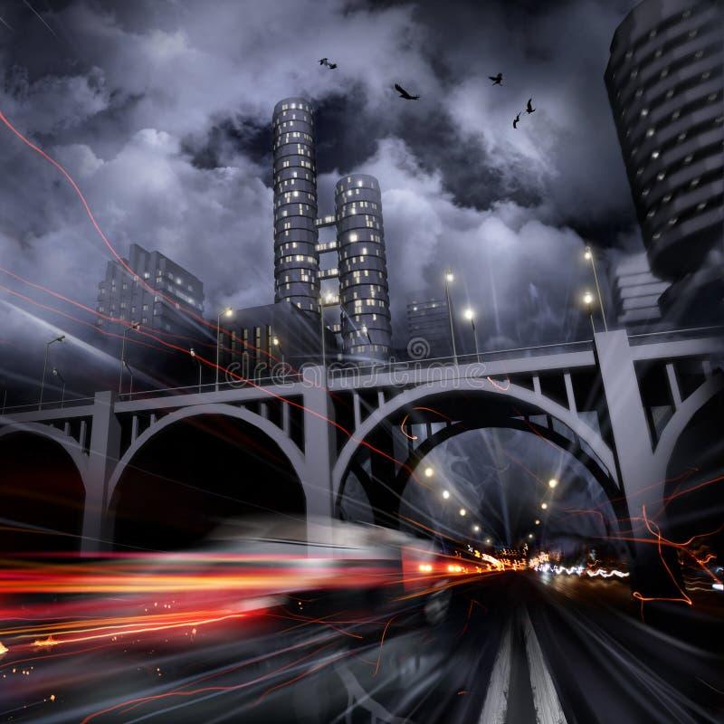 miasto zaświeca noc