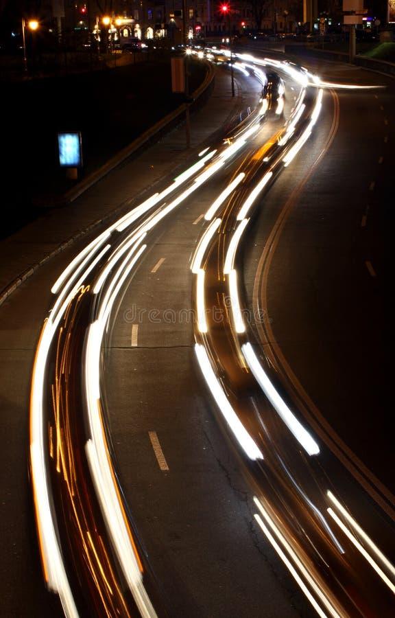 miasto zaświeca noc drogę obraz stock