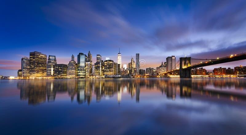 miasto zaświeca nowego York obrazy royalty free