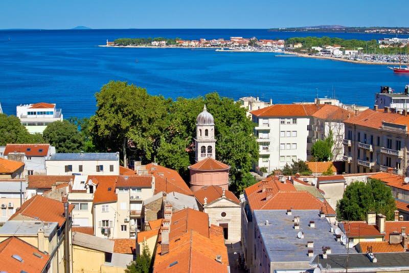 Miasto Zadar widok z lotu ptaka zdjęcia royalty free