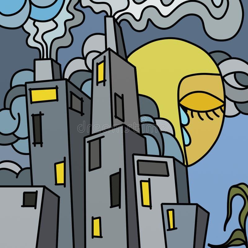 miasto zanieczyszczający royalty ilustracja