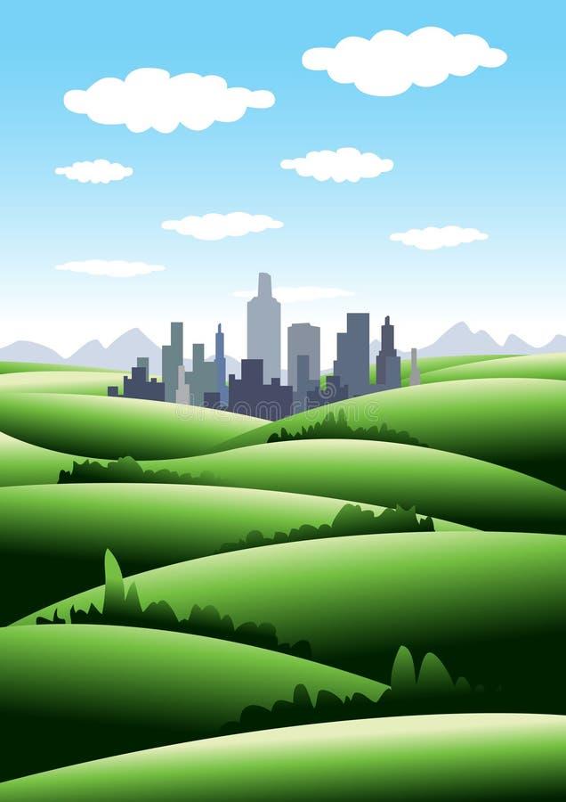 miasto zieleń ilustracji