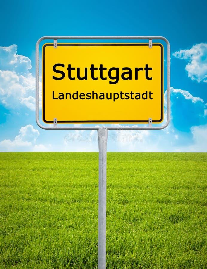 Miasto znak Stuttgart zdjęcie stock