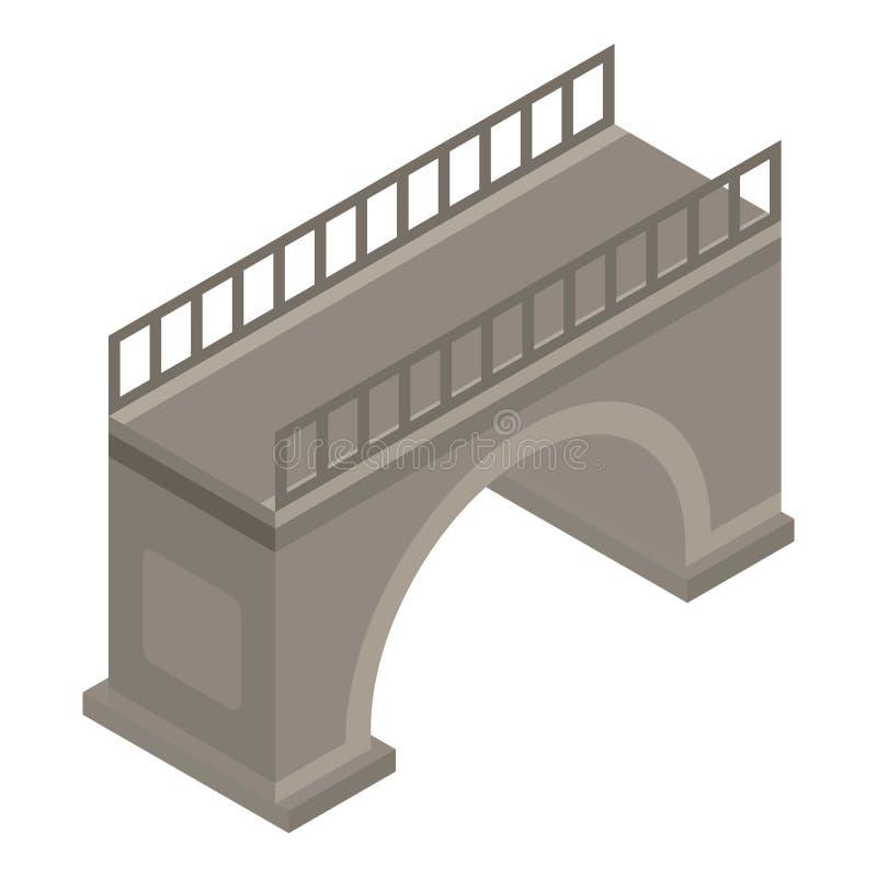 Miastowa bridżowa ikona, isometric styl royalty ilustracja