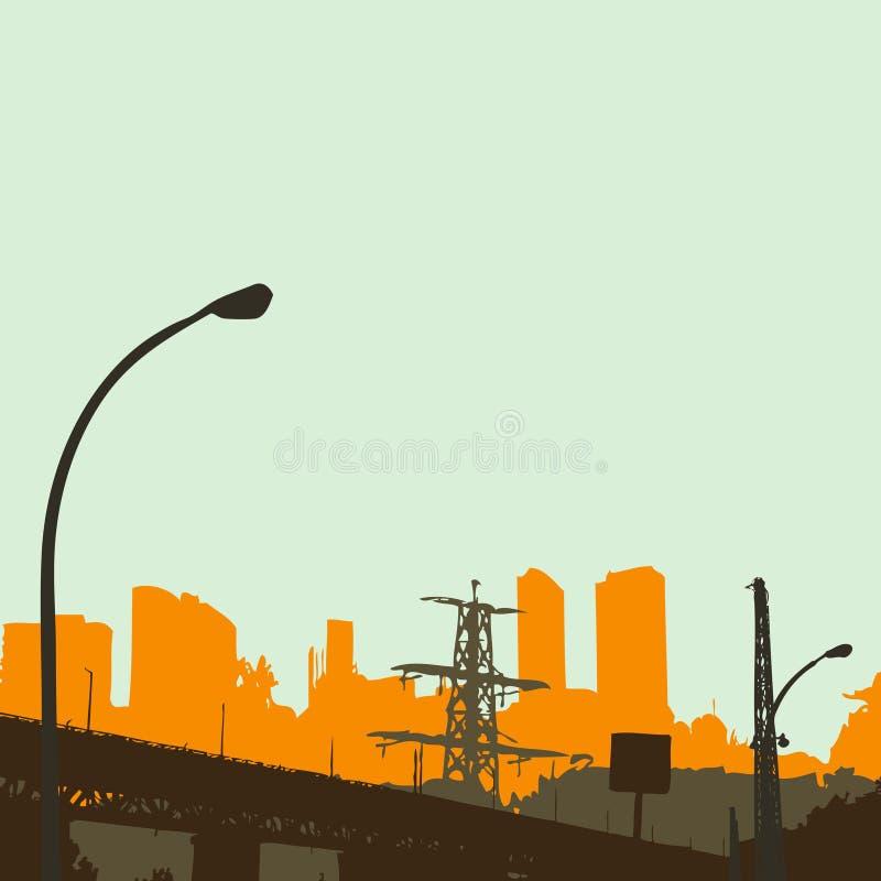 miastowa grunge scena royalty ilustracja