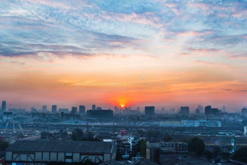 Miastowa miasto linia horyzontu, Bangkok, Tajlandia zdjęcie stock