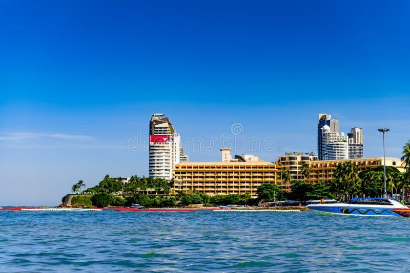 Miastowa miasto linia horyzontu Pattaya fotografia royalty free