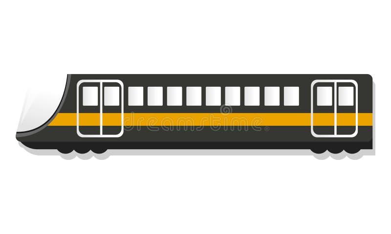 Miastowa pociąg pasażerski ikona, kreskówka styl ilustracji