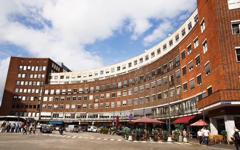 Miastowa scena w Oslo mieście obrazy royalty free