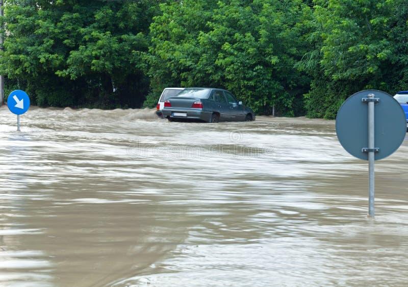 miastowa teren powódź zdjęcia royalty free
