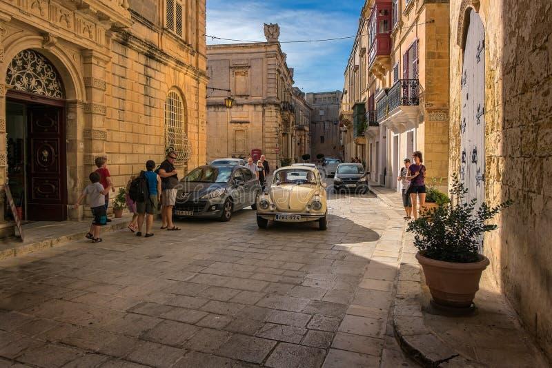 Miastowe sceny w Mdina Malta zdjęcia royalty free