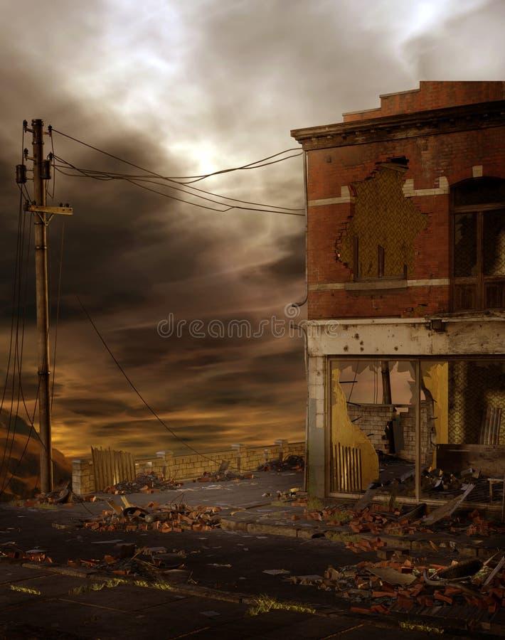 miastowej 4 ruiny ilustracja wektor