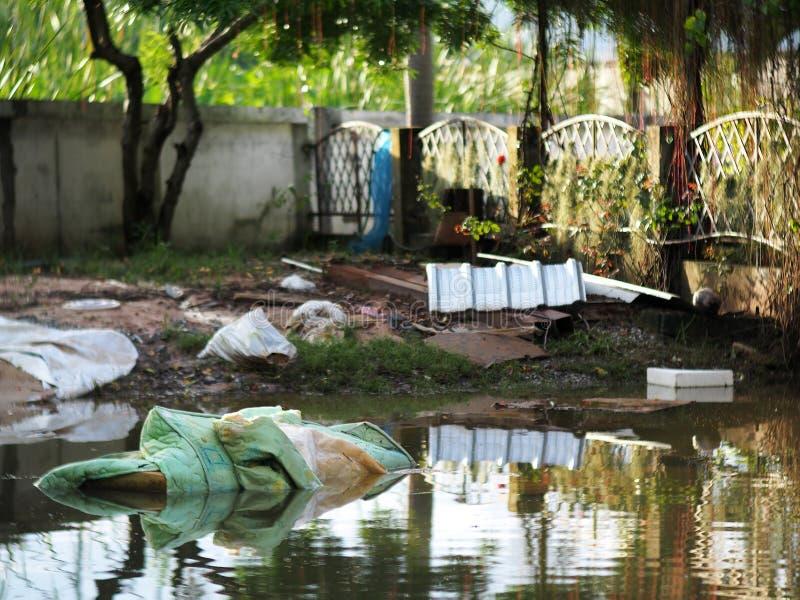 Miastowej powodzi globalny nagrzanie obraz royalty free