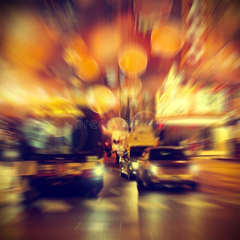 Miastowy życie przy nocą obrazy royalty free