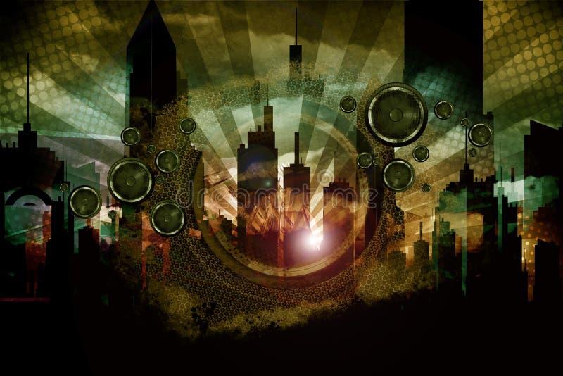 Miastowy Audio Obłąkanie ilustracji