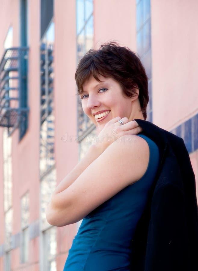 Miastowy bizneswoman 10 zdjęcia royalty free