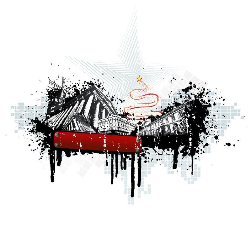 miastowy Bożego Narodzenia grunge royalty ilustracja