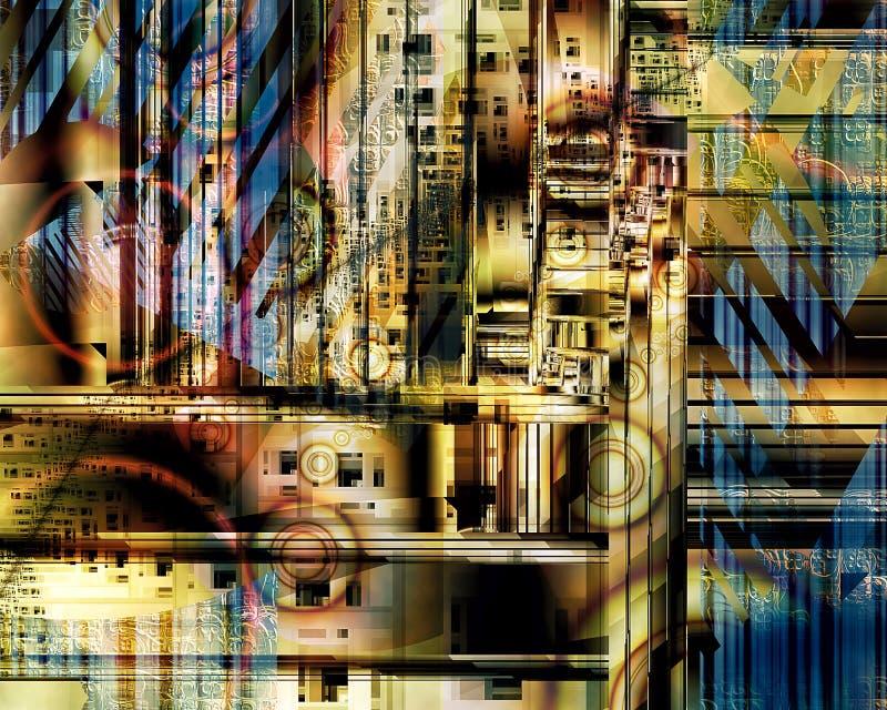 Miastowy Geometryczny Fractal Ja zdjęcie royalty free