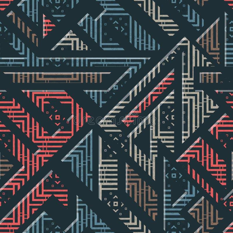 Miastowy geometryczny pasiasty wzór royalty ilustracja