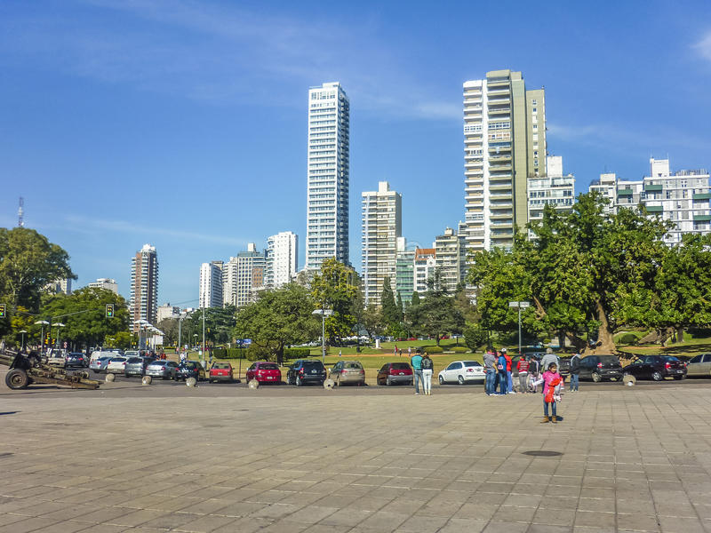 Miastowy kwadrat w Rosario mieście Argentyna zdjęcia royalty free