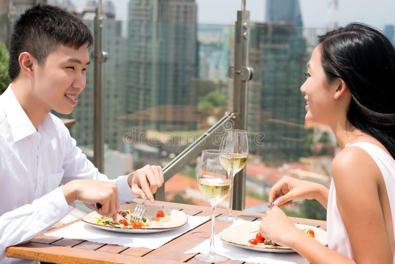 Miastowy lunch obraz royalty free