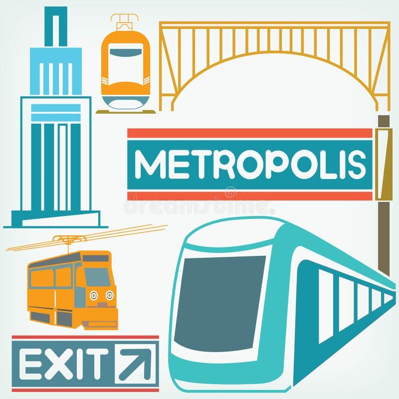Miastowy miasta i ruchu drogowego pojęcie royalty ilustracja