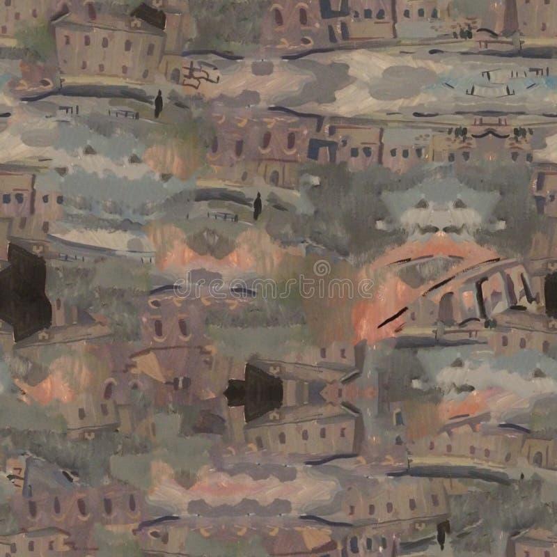 Miastowy nowożytny bezszwowy wzór Idealna tekstura dla mody tkaniny lub nowożytnych przedmiotów ilustracja wektor
