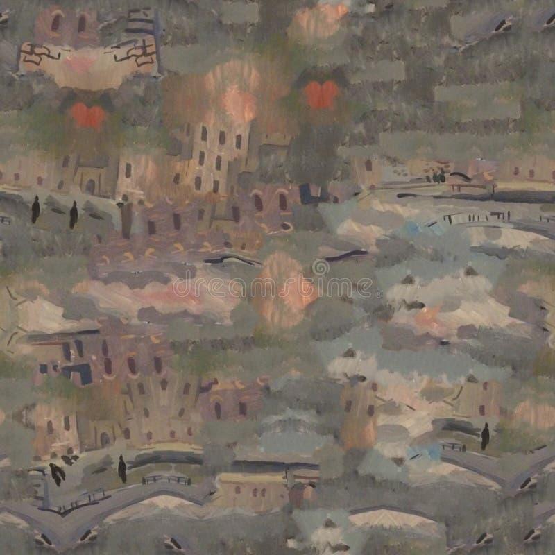 Miastowy nowożytny bezszwowy wzór Idealna tekstura dla mody tkaniny lub nowożytnych przedmiotów ilustracji