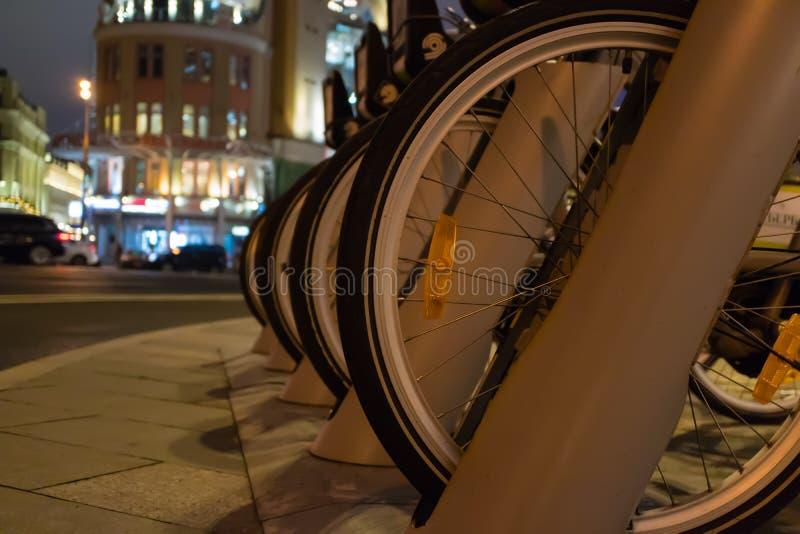 Miastowy rowerowy parking obrazy royalty free