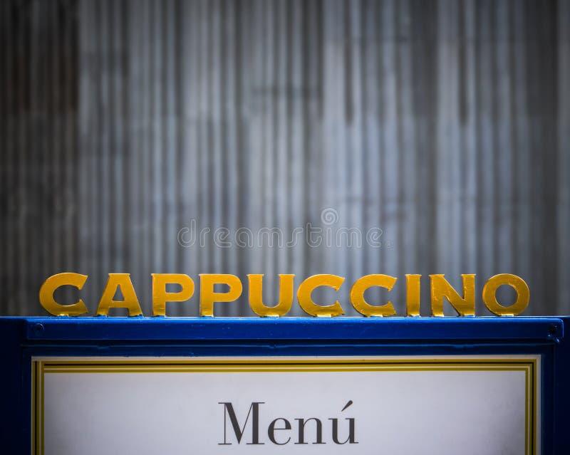 Miastowy sklepu z kawą znak obrazy royalty free
