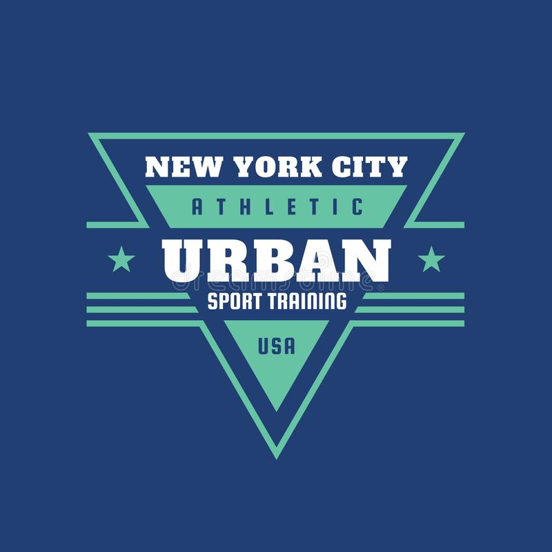 Miastowy sport trenuje sportowego usa - typografia rocznika logo dla koszulki Retro grafiki odznaka dla stroju druku dwa koloru royalty ilustracja