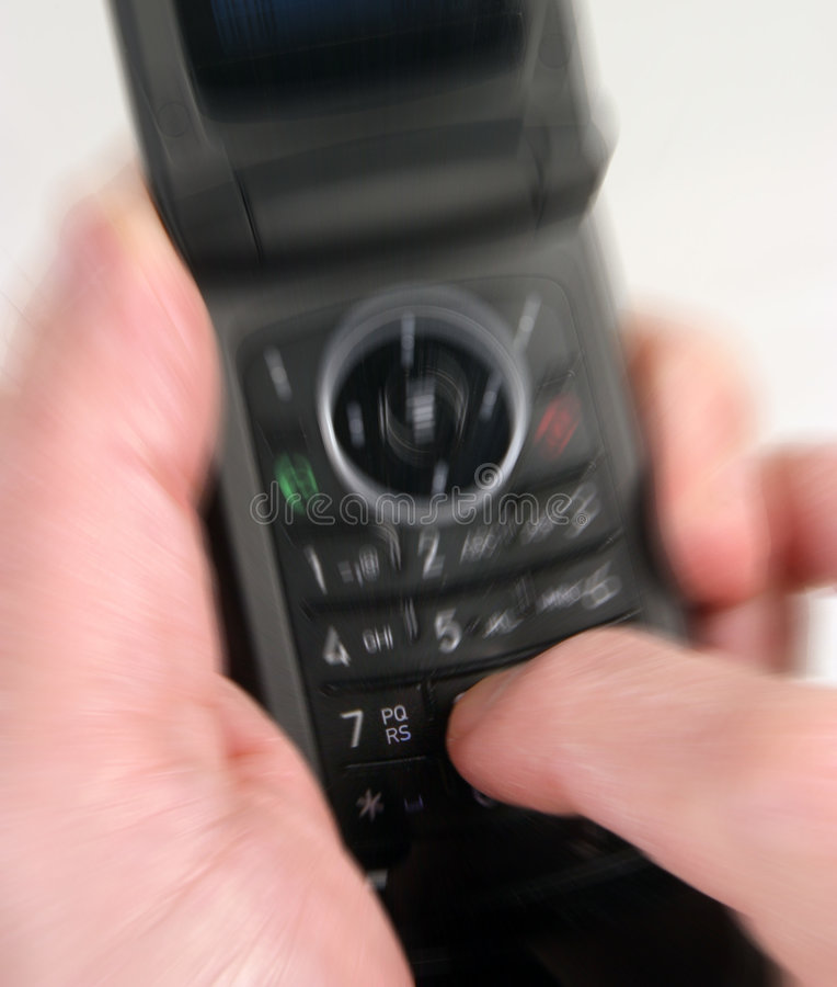 mibile använda för telefon arkivbild