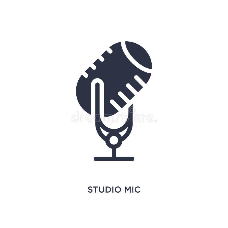 mic στούντιο εικονίδιο στο άσπρο υπόβαθρο Απλή απεικόνιση στοιχείων από την έννοια κινηματογράφων ελεύθερη απεικόνιση δικαιώματος