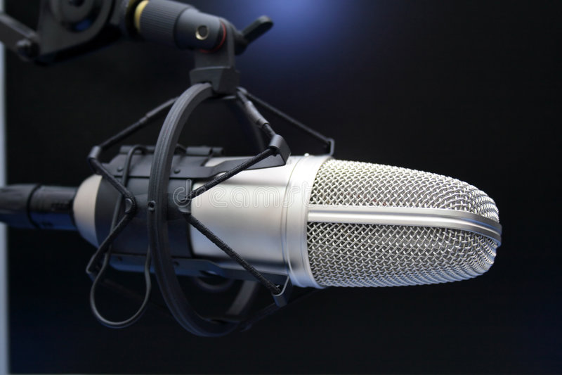 mic ραδιόφωνο στοκ φωτογραφίες